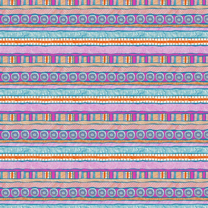 Beach Hat: Horizontal Stripe Coordinate
