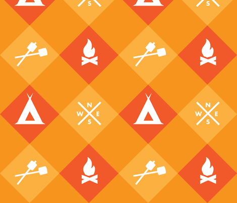 Camping  fabric by hollyakkerman on Spoonflower - custom fabric