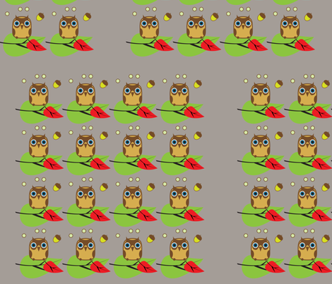 owls 7  small fabric by isabella_asratyan on Spoonflower - custom fabric