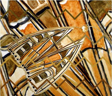Gothic Moth Quilt fabric by de-ann_black on Spoonflower - custom fabric