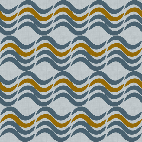 Waves - winter fabric by jwitting on Spoonflower - custom fabric