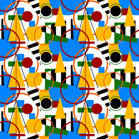 Abstract Olympics fabric by lusyspoon on Spoonflower - custom fabric