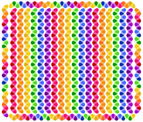 Color Burst Rainbow ZigZag Cheater Quilt