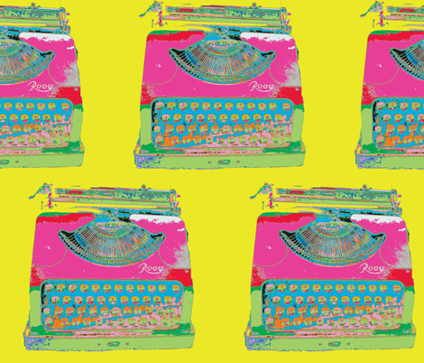 Jack Kerouac's Typewriter fabric by susaninparis on Spoonflower - custom fabric