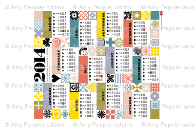 2014 Tea Towel Calendar