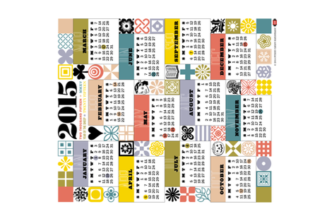 2015 Tea Towel Calendar fabric by pennycandy on Spoonflower - custom fabric