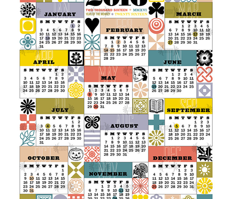2016 Tea Towel Calendar