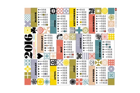 2016 Tea Towel Calendar fabric by pennycandy on Spoonflower - custom fabric