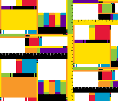Mod School Supplies fabric by modgeek on Spoonflower - custom fabric