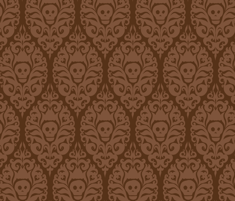 Spooky Damask - Fresh Earth fabric by pattysloniger on Spoonflower - custom fabric