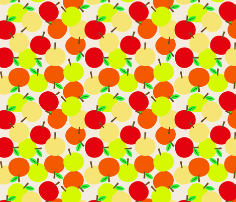 Apple Toss fabric by janekenstein on Spoonflower - custom fabric