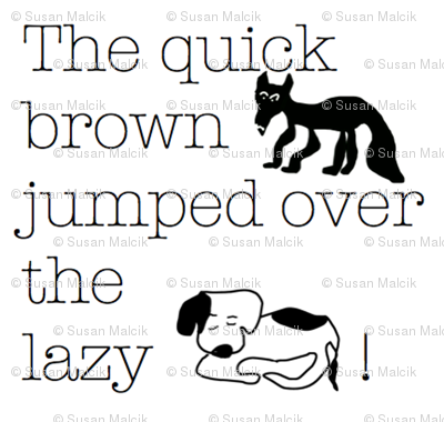 The quick brown...