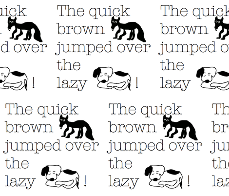 The quick brown... fabric by susaninparis on Spoonflower - custom fabric