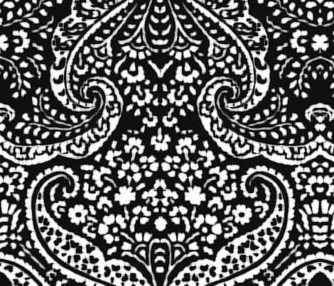 IKAT_CACHEMIRE_BLACK fabric by leitmotifs on Spoonflower - custom fabric