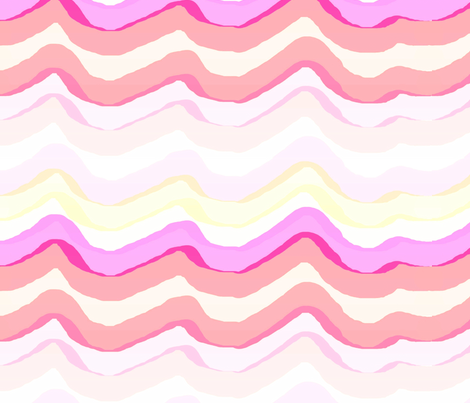 Zig Zag stripe / watermelon fabric by paragonstudios on Spoonflower - custom fabric