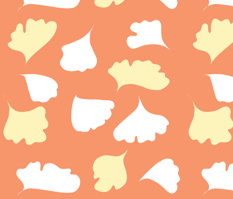 fern_peach fabric by ma0 on Spoonflower - custom fabric