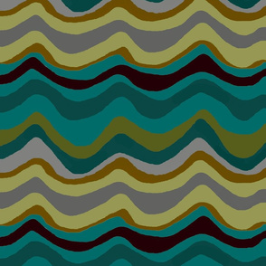 zigzag stripe / teal