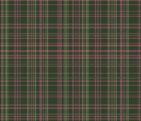 Raspberry Plaid fabric by rubydoor on Spoonflower - custom fabric
