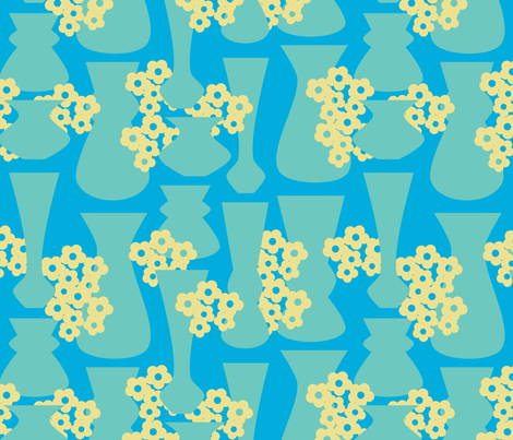 Flowers and Vases fabric by thecalvarium on Spoonflower - custom fabric