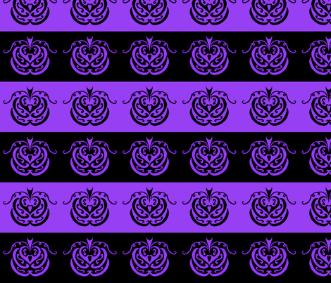 pumpkin patch (black and purple) fabric by ladyleigh on Spoonflower - custom fabric