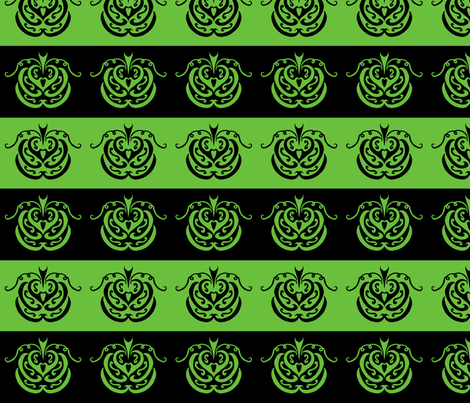pumpkin patch (black and green) fabric by ladyleigh on Spoonflower - custom fabric