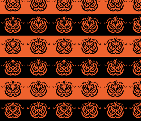 pumpkin patch (black and orange) fabric by ladyleigh on Spoonflower - custom fabric