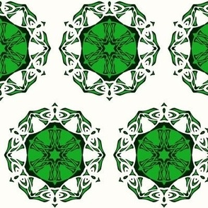 Butterfly Wheel (green and white)