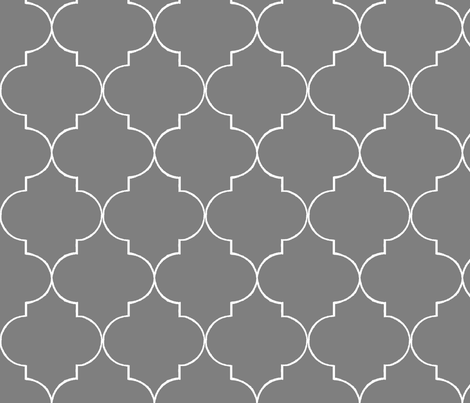 ogee_grey1 fabric by hollydavidson on Spoonflower - custom fabric