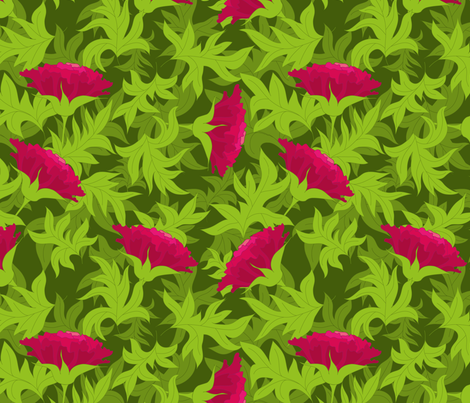 Tropical flower fabric by stewsha on Spoonflower - custom fabric