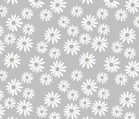 Daisy Mist fabric by de-ann_black on Spoonflower - custom fabric