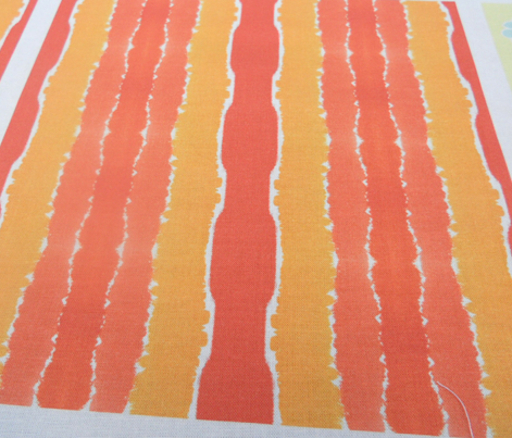 Tangerine Watercolour Stripes