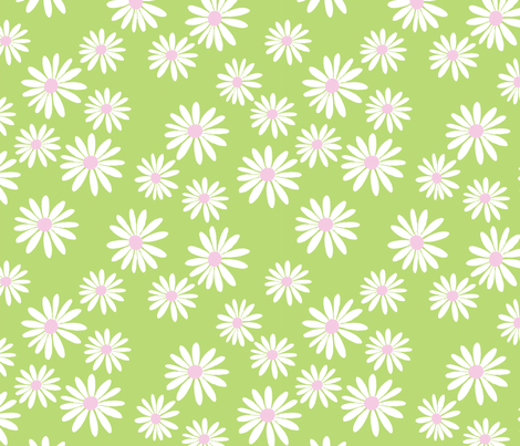 Daisy Eau De Nil fabric by de-ann_black on Spoonflower - custom fabric