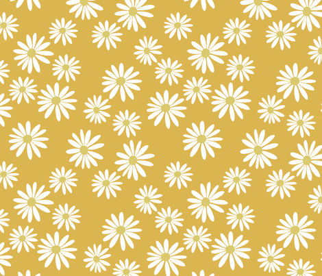 Daisy Caramel fabric by de-ann_black on Spoonflower - custom fabric