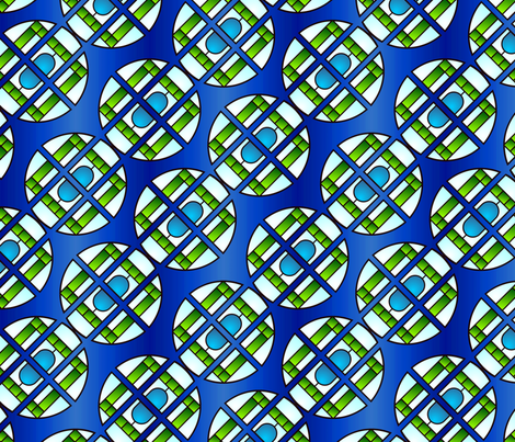 Art deco stained glass  fabric by hannafate on Spoonflower - custom fabric