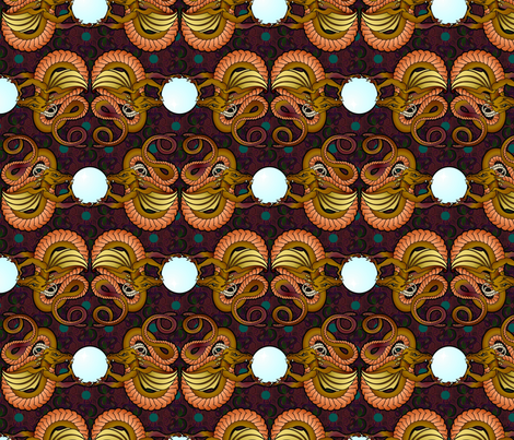 bronze dragons fabric by hannafate on Spoonflower - custom fabric