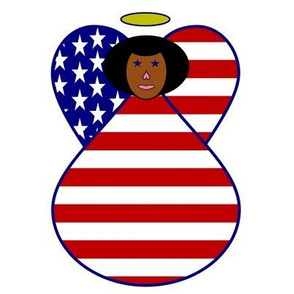 African American USA Flag Angel