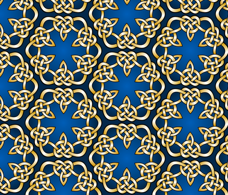 celtic style knotted ornament fabric by hannafate on Spoonflower - custom fabric