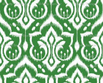 Ikat Damask - Evergreen