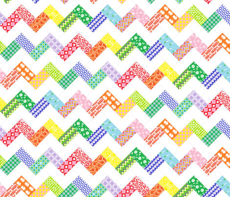 Happy Chevron Quilt fabric by eeniemeenie on Spoonflower - custom fabric