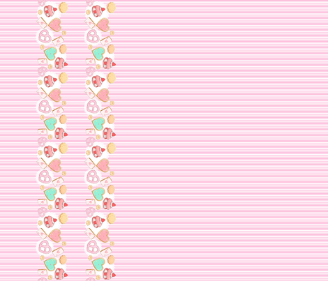 Cause We Heart Noms fabric by nai_da on Spoonflower - custom fabric