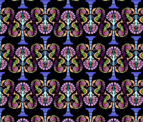 peacocks and pomegranates fabric by hannafate on Spoonflower - custom fabric