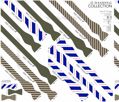 BOWTIE DIY: Dashing Collection fabric by avelis on Spoonflower - custom fabric
