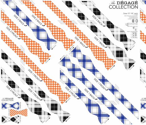 BOWTIE DIY: Degage Collection fabric by avelis on Spoonflower - custom fabric