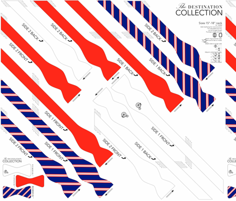 BOWTIE DIY: Destination Collection fabric by avelis on Spoonflower - custom fabric