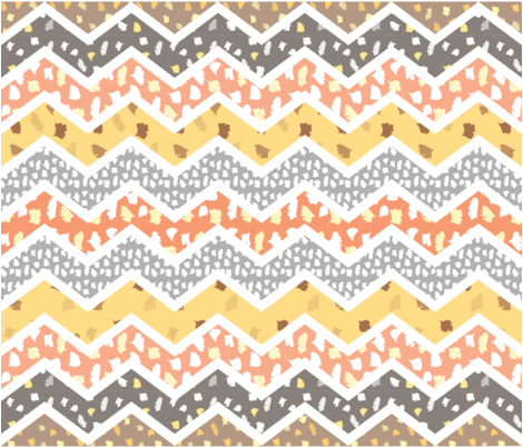 fern_chevron_quilt fabric by ma0 on Spoonflower - custom fabric
