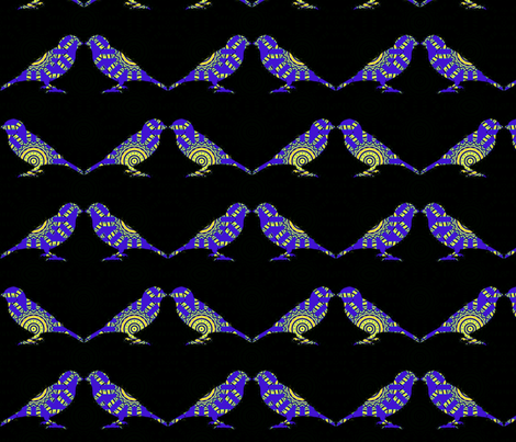 Bird Songs 1 fabric by dovetail_designs on Spoonflower - custom fabric