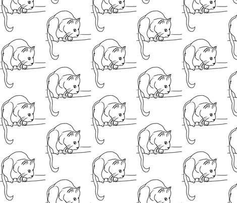 meow fabric by jesilangdaleanderson on Spoonflower - custom fabric