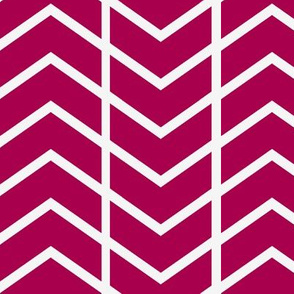 chevron stripe in Hot pink