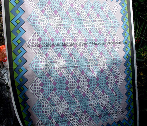 Celtic Zig Zag Cheater Quilt