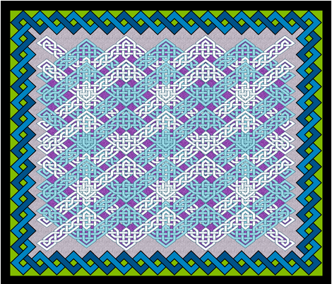 Celtic Zig Zag Cheater Quilt fabric by nezumiworld on Spoonflower - custom fabric